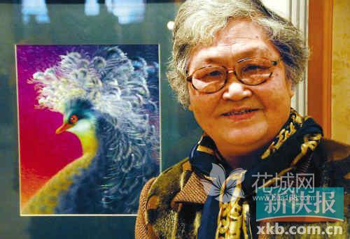 广绣传统作品最受青睐 构图饱满色彩强烈者佳