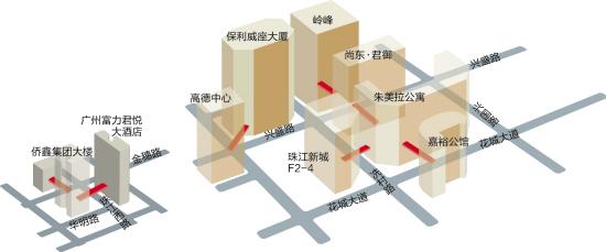 珠江新城拟新建7座连廊