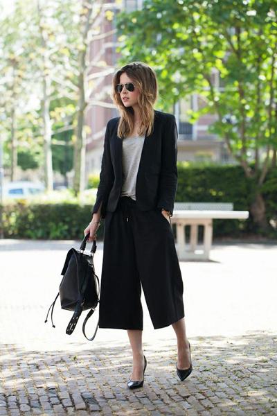 阔腿裤如何搭配上衣,阔腿裤如何穿着
