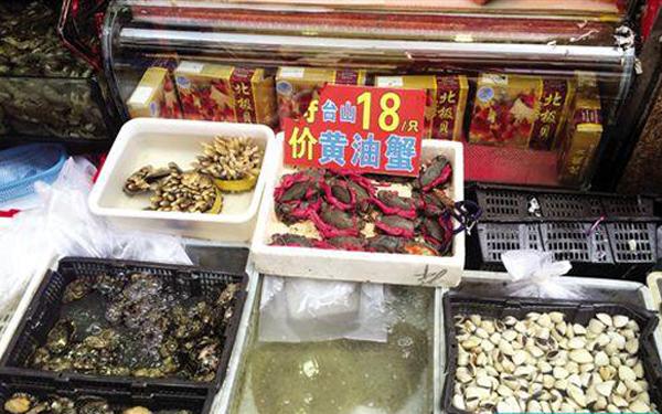 """广州黄沙海鲜降价 吃""""奄仔蟹""""正当时"""