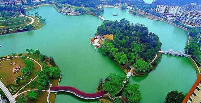 增城区增城东湖公园:一个可以钓鱼的公园