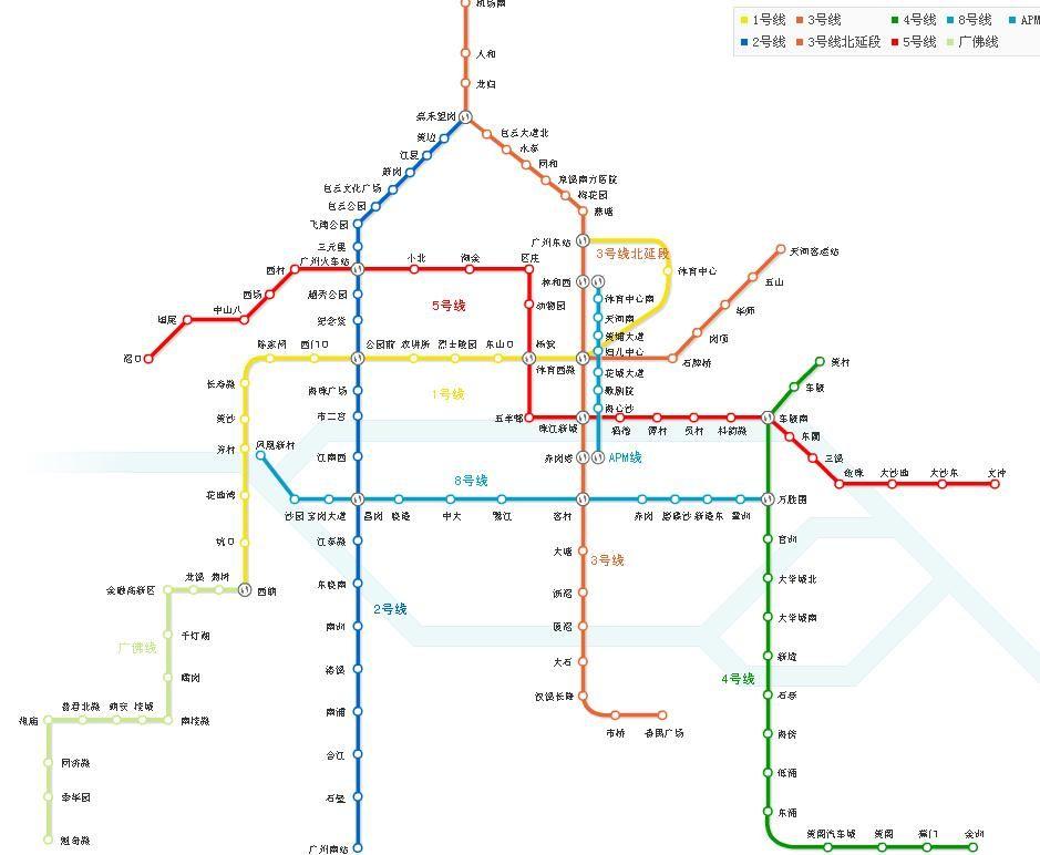 广州地铁线路图2016 2016年广州地铁线路图 广州地铁一号线线路图 图片