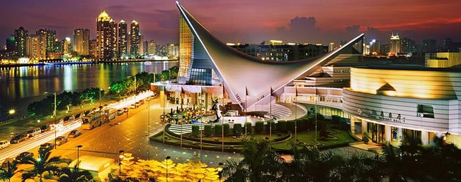 广州哪里夜景最好看?二沙岛的夜空乐韵飘扬!