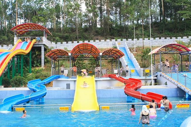 广州周边玩水就去云浮太阳岛水上乐园消暑度假