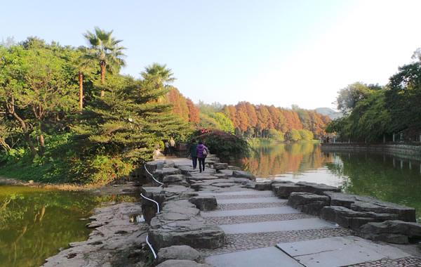 中秋节赏月地方推荐:广州麓湖公园