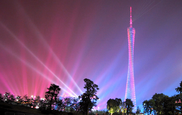 中秋节旅游约你到广州塔看城景