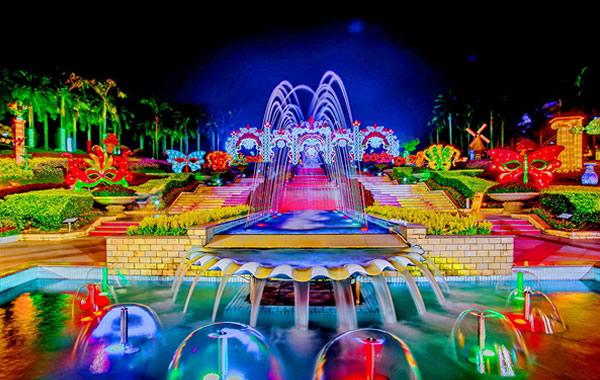 广州云台公园举办丝路之旅大型灯饰花卉嘉年华活动