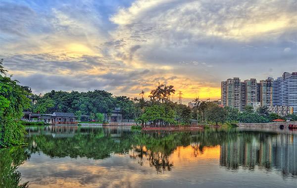 中秋广州情侣旅游胜地:荔湾湖公园