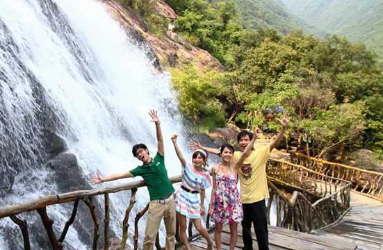 广州白水寨一日游登山观瀑叹天然SPA