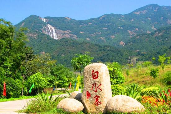 周末广州休闲一日游到白水寨吸氧洗肺