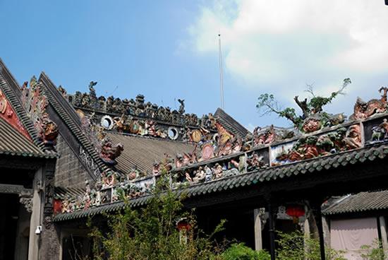 一日游到陈家祠研究广府砖雕跟北方砖雕