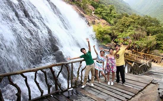八月旅游到增城白水寨参加森林寻宝活动