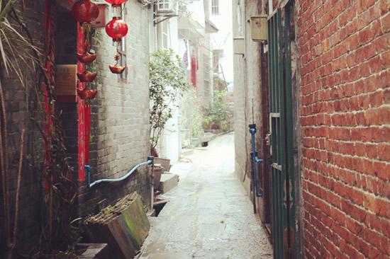 广州小洲村里的小桥流水和青砖青瓦