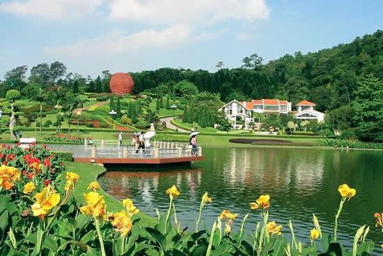 广州市区的森林浴场白云山风景区