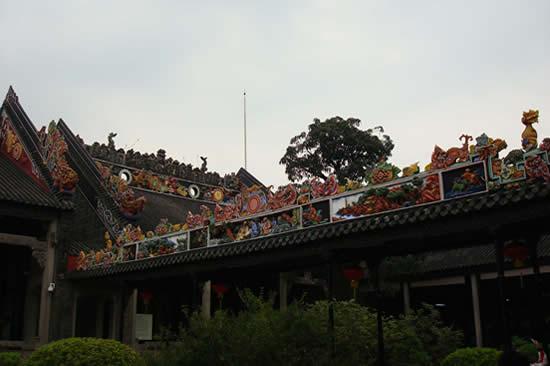 广州一日游到陈家祠研究砖雕历史