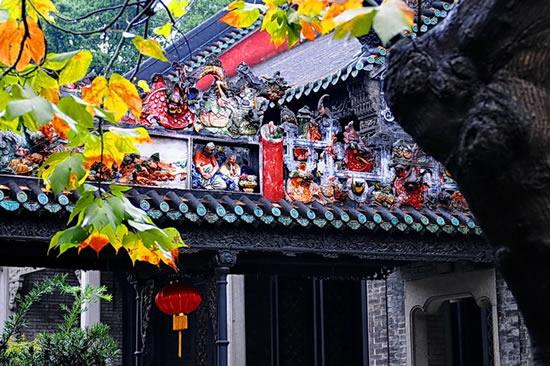 广州陈家祠建筑艺术灰塑狮子揭秘