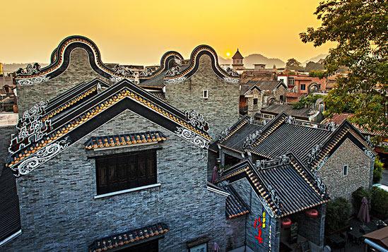 广州番禺沙湾古镇古城墙探秘