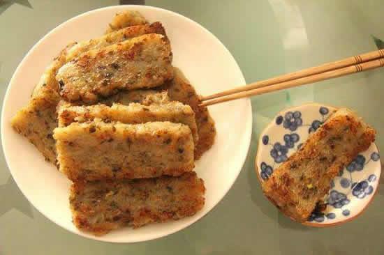 广州长寿路荔湾名食家吃萝卜糕