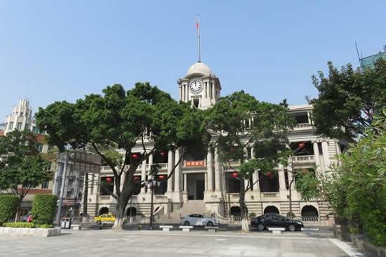 粤海关最早设在广州海珠广场旁的天字码头