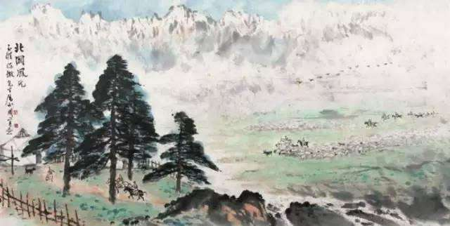 关山月巨幅精品《北国风光》亮相广州