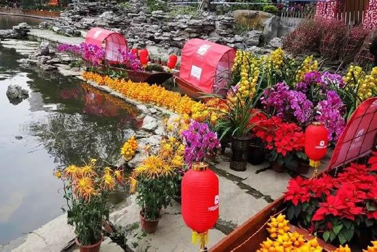 春节广州荔枝湾涌水上花市一日游