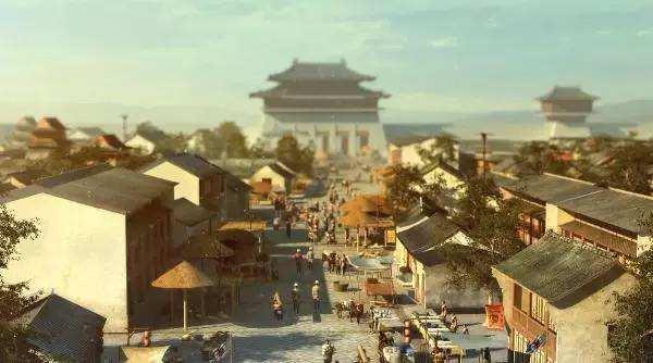 两百年前的广州水上府城的美丽景象