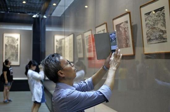 李涵、张孝伦师生国画展在广东省立中山图书馆开展