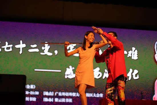 六小龄童来到广外大学城校区大谈西游文化