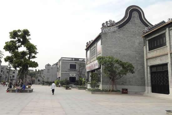 番禺区沙湾镇那些高墙老院落200岁蚝壳墙