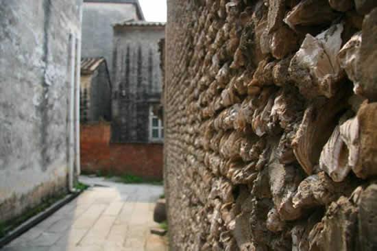岭南地区蚝壳筑墙的历史最早可追溯到南北朝