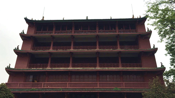 广州古仔之镇海楼的双龙出海