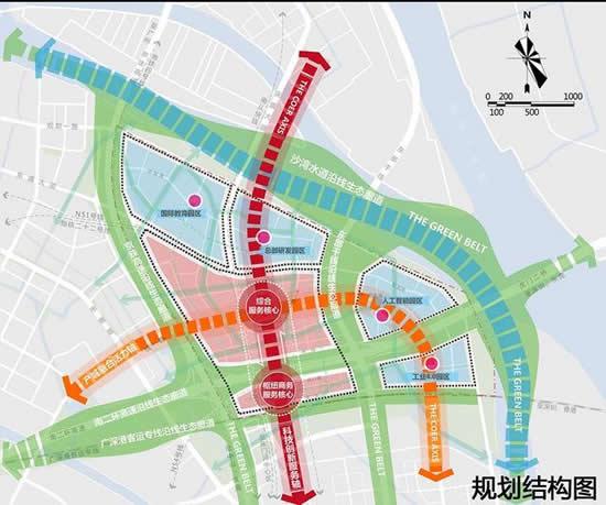 广州市南沙区庆盛枢纽区块将打造国际科创城