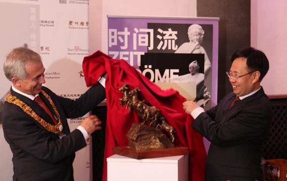 2018广州文化周·羊城印象雕塑精品法兰克福展开幕