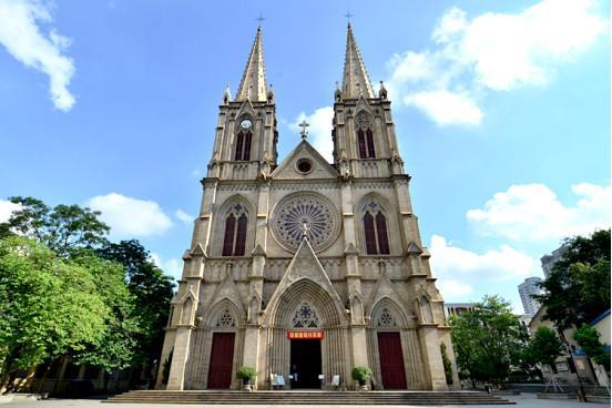 """石室圣心大教堂,广州一德路上的""""远东巴黎圣母院"""""""