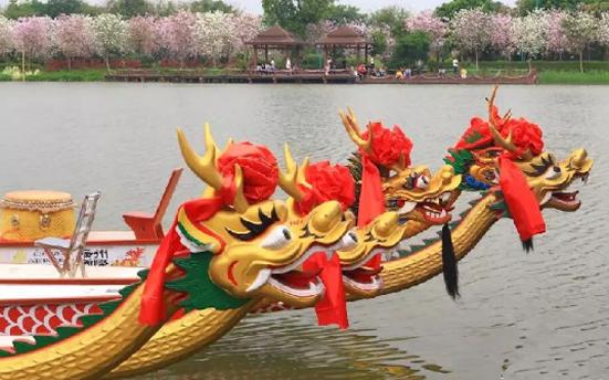 广州海珠湿地公园举办2018年海珠湿地龙船景活动 唱响龙舟文化品牌
