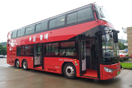 广州纯电动双层巴士公交观光线路正式开通 可观赏羊城八景