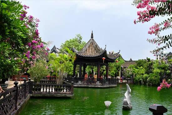 余荫山房首届紫薇文化旅游节开幕 广州暑假休闲度假的好去处