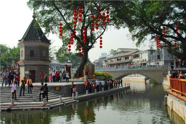 这个地方可以来,一湾溪水绿, 广州荔枝湾涌