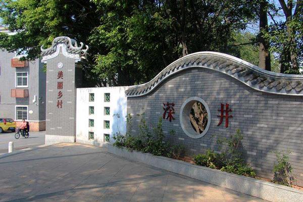 广州一日游冷门景点之深井古村 观赏客家式的碉楼和西洋石柱
