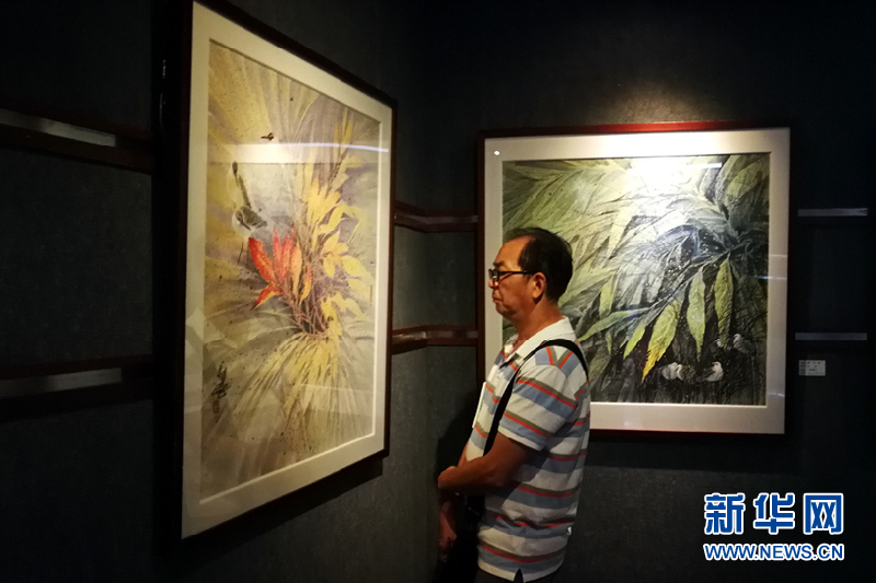 《彩墨随缘——陈万祥作品展》在二沙岛展出 作品广收博取中西画技