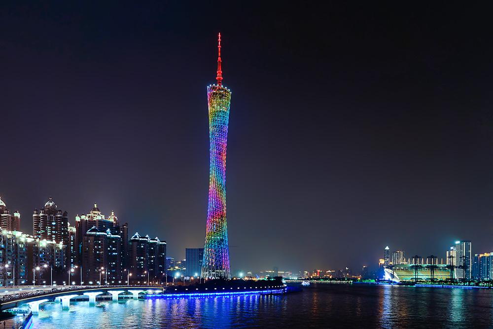 广州塔夜景,一座城市,总有一座标志性建筑!